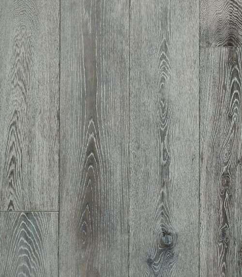 Winter Grey European Oak Engineered Flooring 20mm x 240mm Hand Scraped, Wax Oiled - Rustic